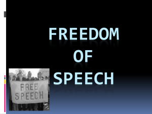 Freedom of Speech - Faculty.frostburg