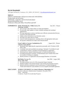 Kevin Karpinski Resume - Temple Fox MIS