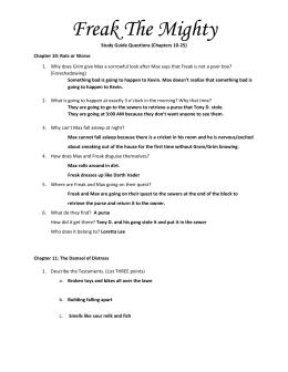 freak the mighty chapter notes rh studylib net freak the mighty study guide answers 13_14 freak the mighty study guide questions and answers