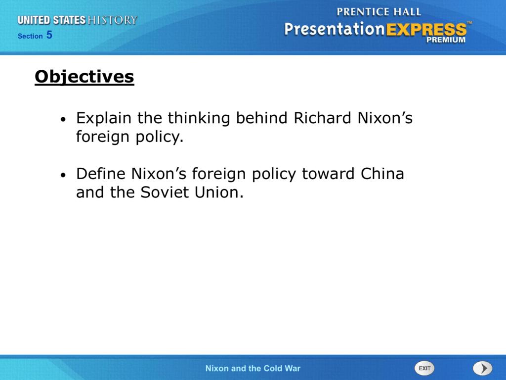 richard nixon cold war policy