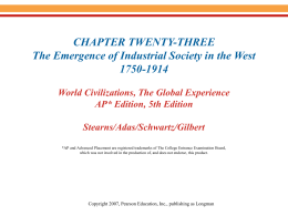 Chapter 23-The Industrial Society in Europe
