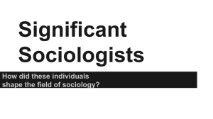 Significant Sociologists