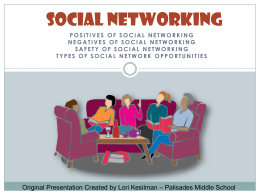 Social Networking - Palisades School District
