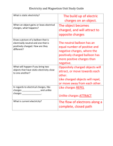 Electricity and Magnetism Unit Study Guide