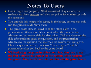 Instructions for the game
