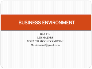 LEGAL PROCESS & BUSINESS ENVIRONMENT