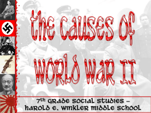 The Causes of WW2 - Cabarrus County Schools