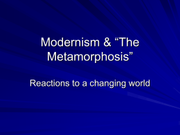 "Modernism & ""The Metamorphosis"""