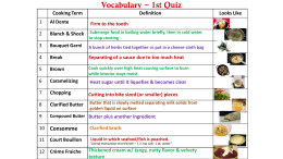 Vocabulary ~ 1st Quiz