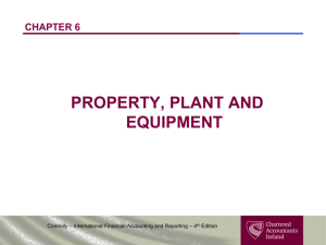 chapter 6 property, plant and equipment