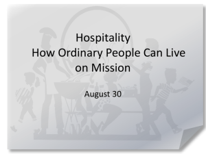 Hospitality How Ordinary People Can Live on Mission