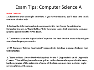 Exam Tips: Computer Science A