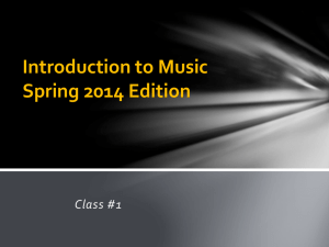 Introduction to Music Class #1