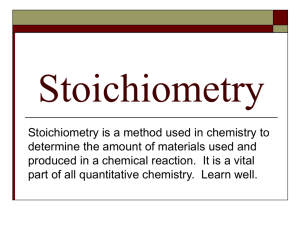 Stoichiometry - Salem Community Schools