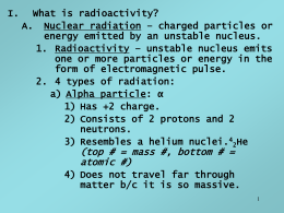 What is radioactivity? Nuclear radiation