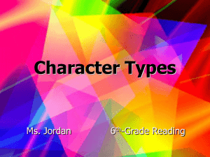 Character Types - Trimble County Schools