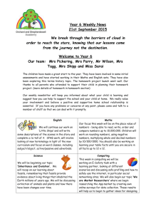 Year 6 Weekly News 21st September 2015 We break through the