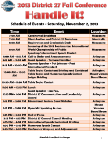 Fall Conference Agenda and Schedule