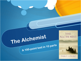 The Alchemist TEST