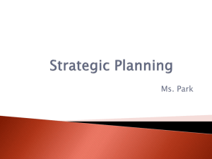 Strategic Planning_lesson 2
