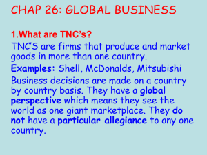 chap 26: global business