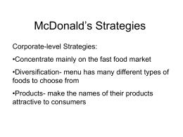 mac donalds corporate strategy