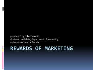 rewards of marketing