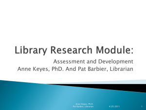 develop a Library research module