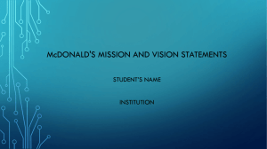 87518641 McDonald's vision and mission statement