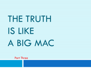 The Truth Is Like A Big