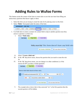 Adding Rules to Wufoo Forms