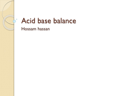Acid base balance hossam