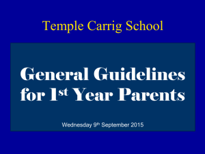 1st Year - Temple Carrig School