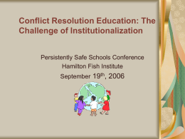 Direct Link to Resource - Conflict Resolution Education Connection