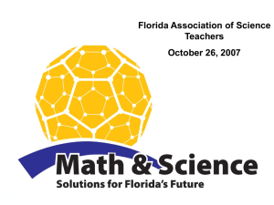 FASS warm-up - King - Florida Association of Science Supervisors