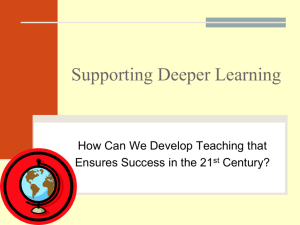Teaching for 21st Century Learning