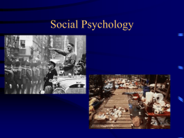 Social Psychology: The Power of the Situation