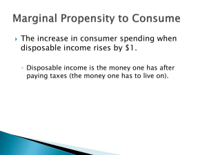 Marginal Propensity To Consume and Save