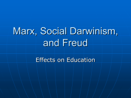 Marx, Social Darwinism, and Freud