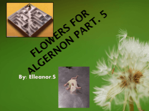 Flowers For Algernon Part. 5