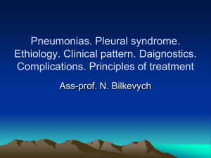 02_Pneumonias. Pleural syndrome