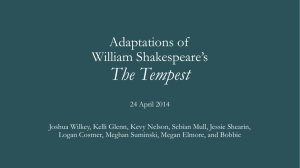 Adaptations of William Shakespeare*s The Tempest