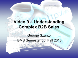 Lecture 4 eMarketing Strategies for Complex B2B Sales
