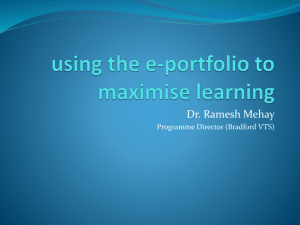 E-portfolio – using it to maximise learning