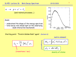 Beta decay spectrum (1)