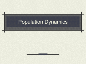 Three Key Features of Populations 2. Density