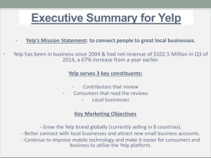 Executive Summary for Yelp
