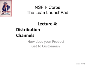 NSF Online Lecture 4 Distribution Channels