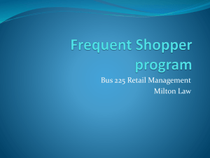Frequent Shopper program - Martenson