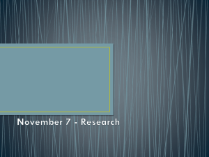 November 7 - Research - AdvertisingandMarketing